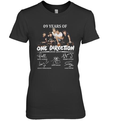 09 Years Of One Direction 2010 2019 Signatures Premium Women's T-Shirt