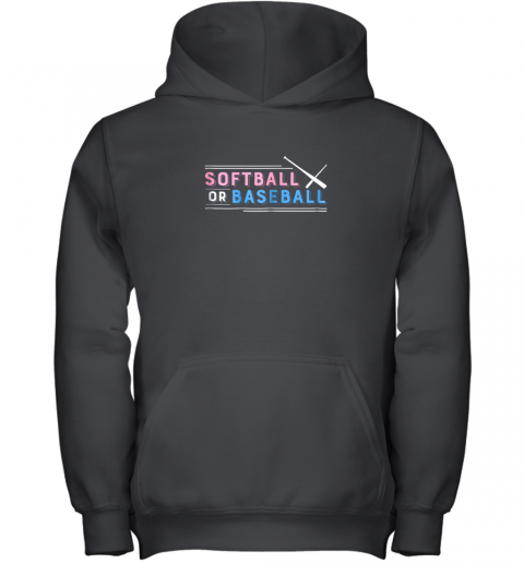 Softball or Baseball Shirt, Sports Gender Reveal Youth Hoodie