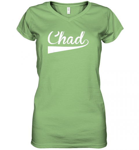 7jwp chad country name baseball softball styled women v neck t shirt 39 front lime