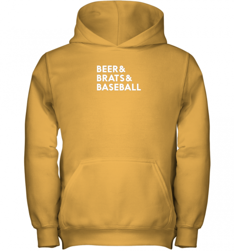 u3r8 beer brats baseball summer ampersand list youth hoodie 43 front gold