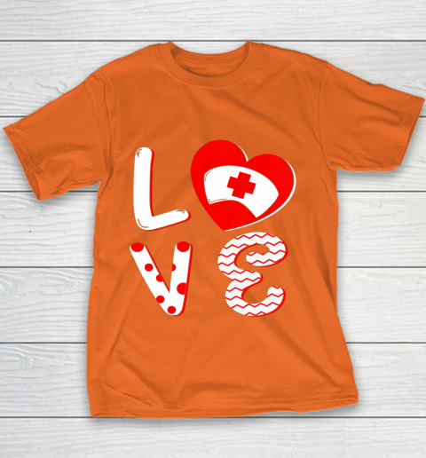 Medical Nurse Valentine Day Shirt Love Matching Youth T-Shirt 4