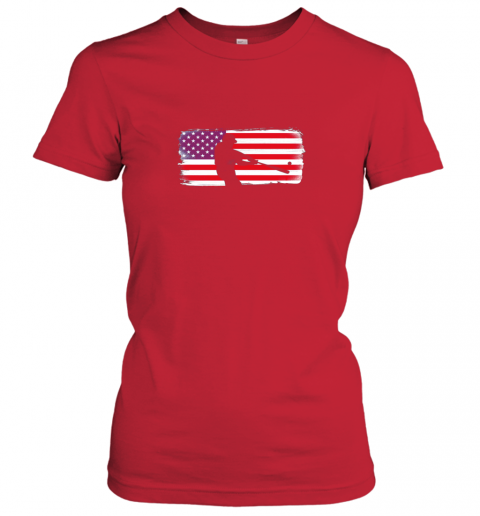 vovp usa american flag baseball player perfect gift ladies t shirt 20 front red