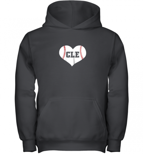 Cleveland Ohio Baseball Love Heart CLE Gift Jersey Fan Youth Hoodie