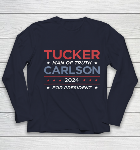 Vote For Tucker Carlson 2024 Presidential Election Campaign Youth Long Sleeve 2