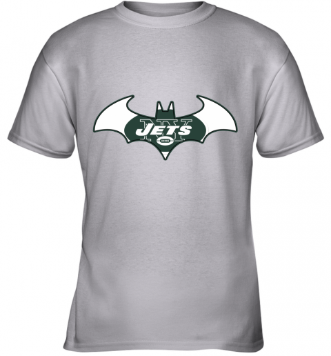 yafx we are the new york jets batman nfl mashup youth t shirt 26 front sport grey