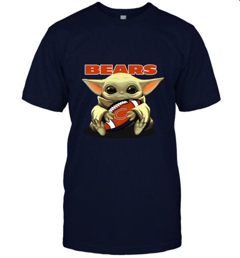 Baby Yoda Loves The Chicago Bears Star Wars NFL Unisex Jersey Tee