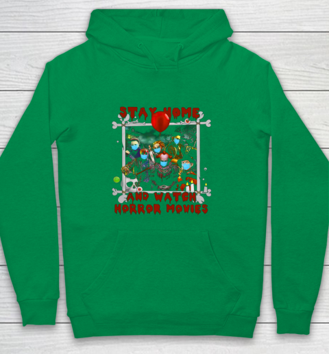 Stay home and watch horror movies Youth Hoodie 6