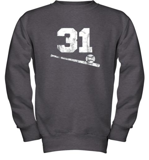 84sk vintage baseball jersey number 31 shirt player number youth sweatshirt 47 front dark heather