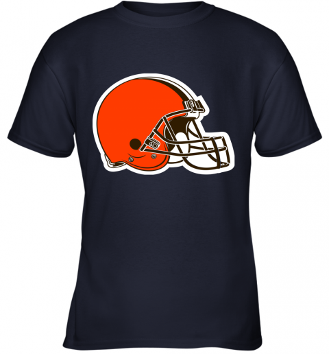 iozq cleveland browns nfl pro line by fanatics branded brown victory youth t shirt 26 front navy