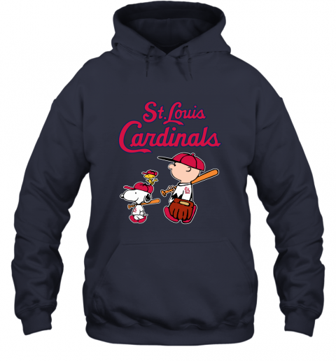 ygpg st louis cardinals lets play baseball together snoopy mlb shirt hoodie 23 front navy