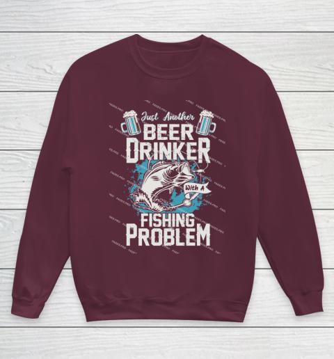 Beer Lover Funny Shirt Fishing ANd Beer Youth Sweatshirt 4
