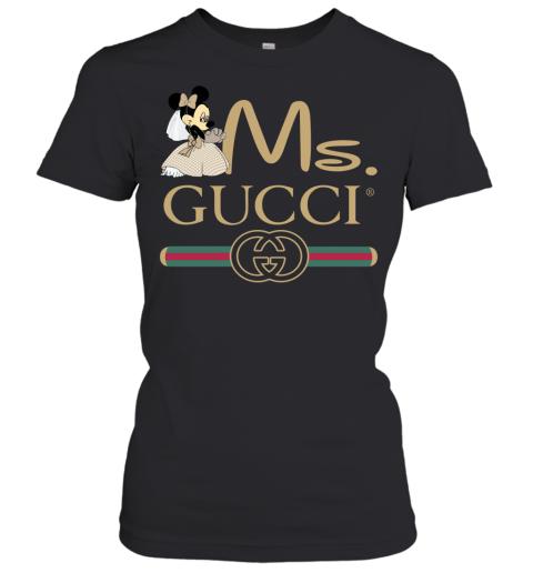 Gucci Couple Disney Ms Minnie Valentine's Day Gift Womens T-Shirt