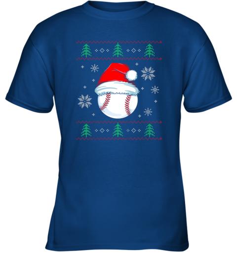 8yuz ugly christmas baseball shirt boys kids ball santa pajama youth t shirt 26 front royal