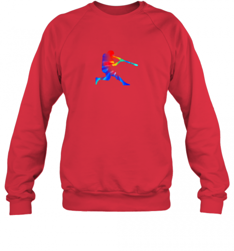 8eak tie dye baseball batter shirt retro player coach boys gifts sweatshirt 35 front red