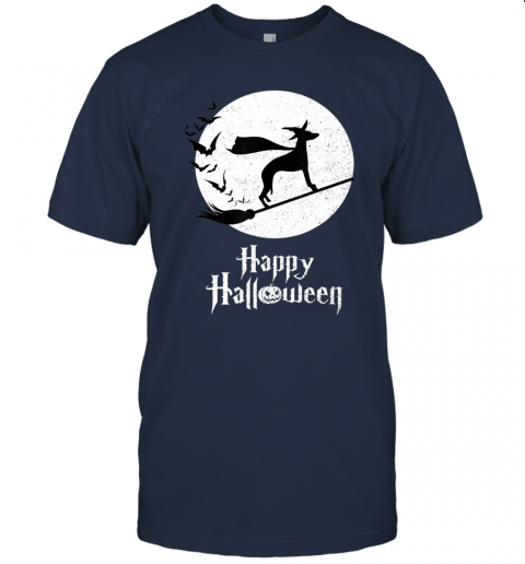 Funny Halloween Costume Witch WHIPPET Dog Lover Gift T-Shirt