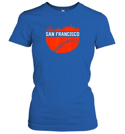 oplv san francisco baseball vintage sf the city skyline gift ladies t shirt 20 front royal