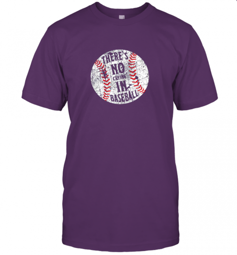 lzs3 there39 s no crying in baseball i love sport softball gifts jersey t shirt 60 front team purple
