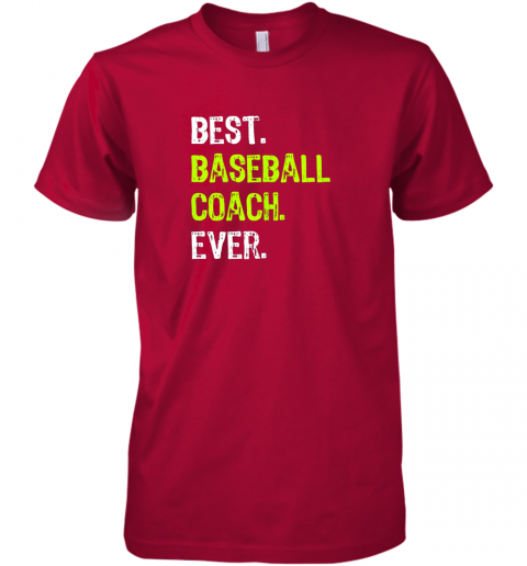 wvju best baseball coach ever funny gift premium guys tee 5 front red