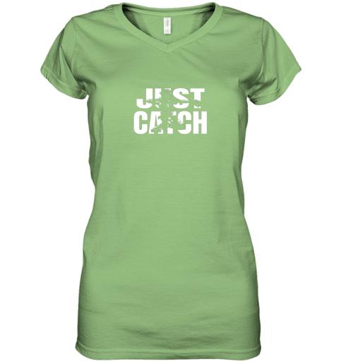 m42j just catch baseball catchers gear shirt baseballin gift women v neck t shirt 39 front lime