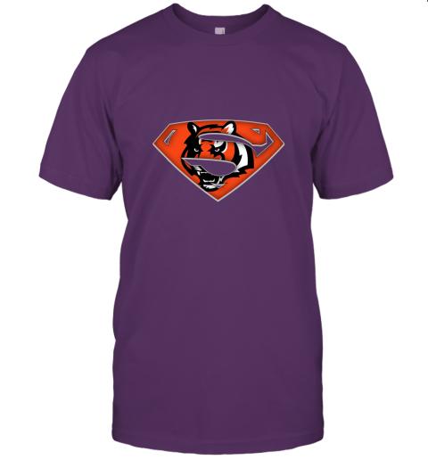 x3lk we are undefeatable the cincinnati bengals x superman nfl jersey t shirt 60 front team purple
