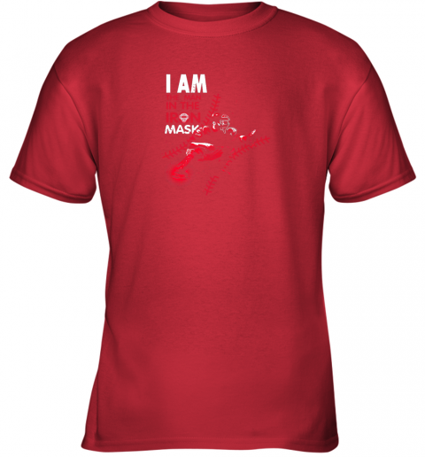 kxct i am the man in the iron mask baseball catcher youth t shirt 26 front red