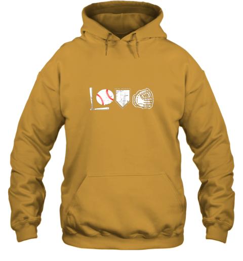 jj4m i love baseball baseball heart hoodie 23 front gold