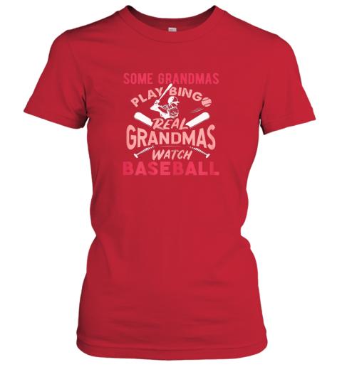 lidy some grandmas play bingo real grandmas watch baseball gift ladies t shirt 20 front red