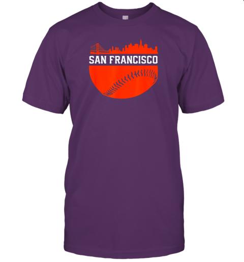 hvol san francisco baseball vintage sf the city skyline gift jersey t shirt 60 front team purple