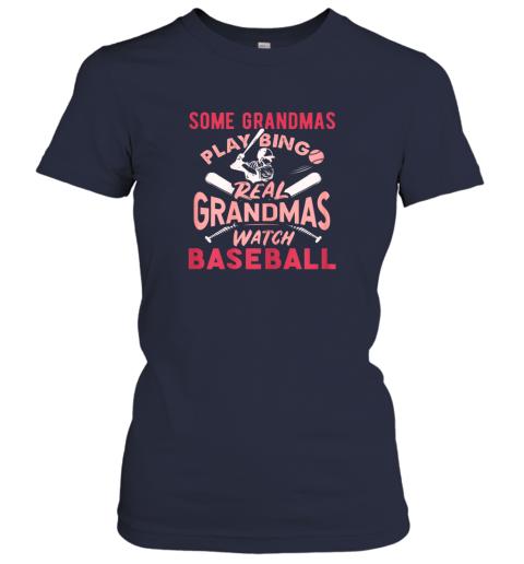 lidy some grandmas play bingo real grandmas watch baseball gift ladies t shirt 20 front navy