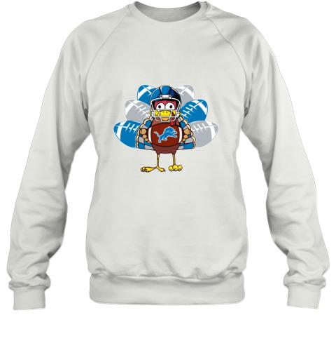 Detroit Lions  Thanksgiving Turkey Football NFL Sweatshirt