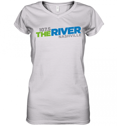 107 5 The River Nashville Women's V-Neck T-Shirt