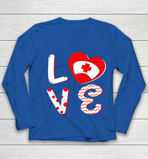 Medical Nurse Valentine Day Shirt Love Matching Youth Long Sleeve 7