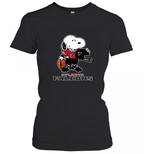 Snoopy A Strong And Proud Atlanta Falcons NFL Women's T-Shirt