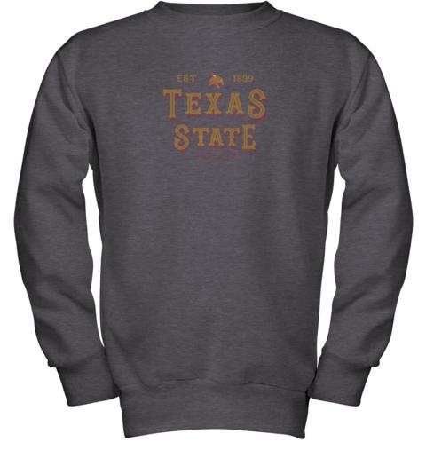 nwzp texas state bobcats womens college ncaa youth sweatshirt 47 front dark heather