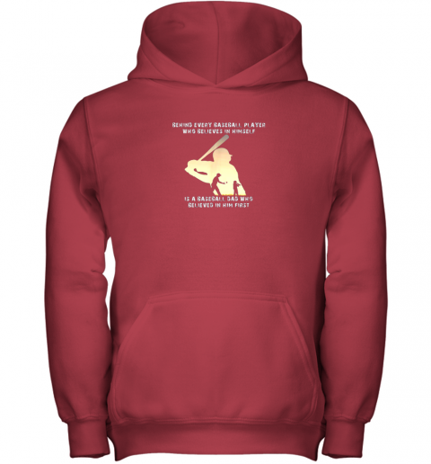 fn4n mens behind every baseball player is a dad that believes youth hoodie 43 front red