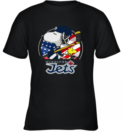 Winnipeg Jets  Snoopy And Woodstock NHL Youth T-Shirt