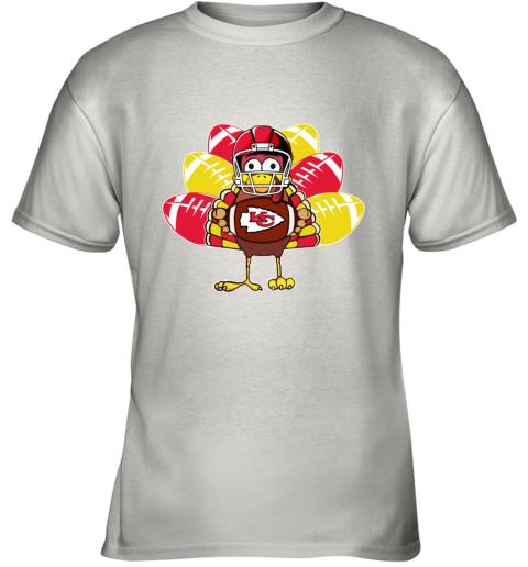 Kansas City Chiefs  Thanksgiving Turkey Football NFL Youth T-Shirt