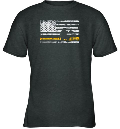 fdqx softball catcher shirts baseball catcher american flag youth t shirt 26 front dark heather