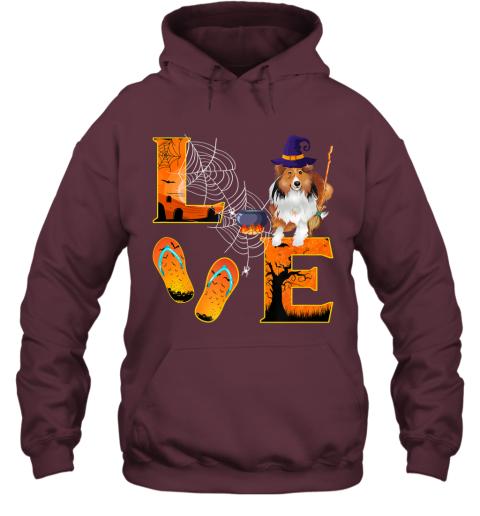 sheltie Love Halloween Boo Dog Gifts sheltie lover Hoodie