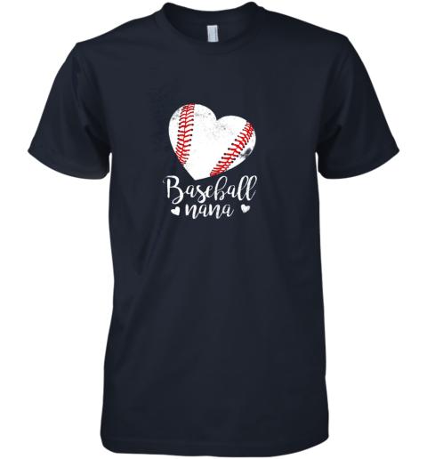 oyow funny baseball nana shirt gift for men women premium guys tee 5 front midnight navy
