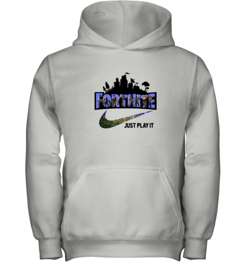FORTNITE - JUST PLAY IT NIKE LOGO F Youth Hoodie