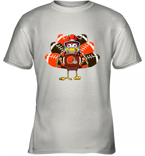 Cleveland Browns  Thanksgiving Turkey Football NFL Youth T-Shirt