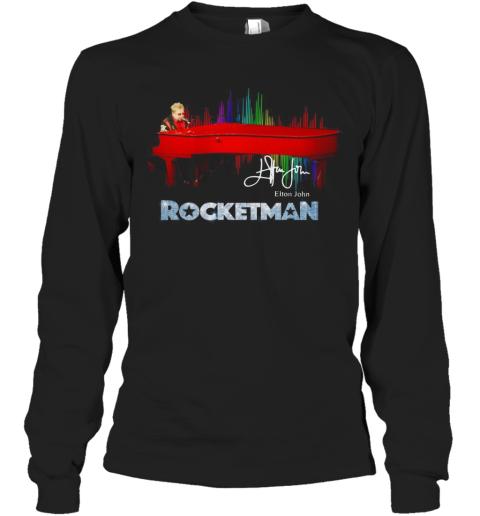 Rocketman Elton John Signature Long Sleeve T-Shirt