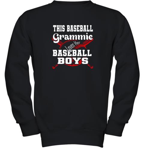 This Baseball Grammie Loves Her Baseball Boys Youth Sweatshirt