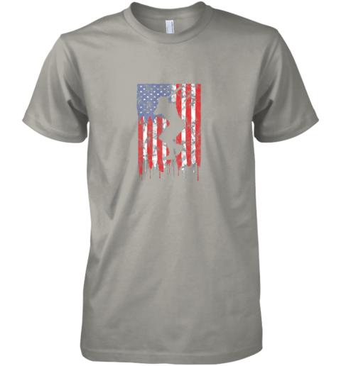 xch3 vintage patriotic american flag baseball shirt usa premium guys tee 5 front light grey