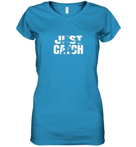 m42j just catch baseball catchers gear shirt baseballin gift women v neck t shirt 39 front sapphire
