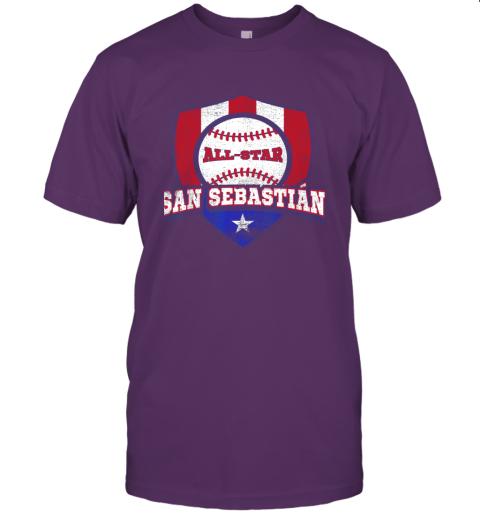j91v san sebastian puerto rico puerto rican pr baseball jersey t shirt 60 front team purple