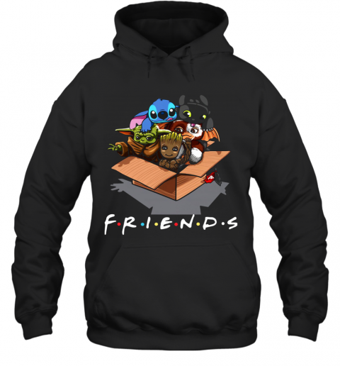 Baby Groot Baby Stitch And Baby Toothless Baby Yoda Baby Gizmo Friends Hoodie