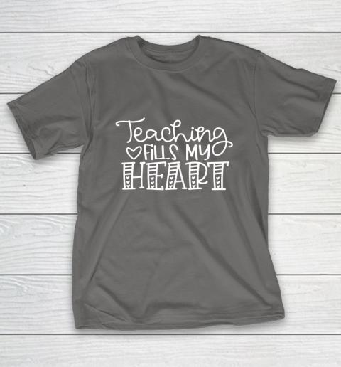 Teaching Fills My Heart Valentine Cute Love Teacher Student T-Shirt 8