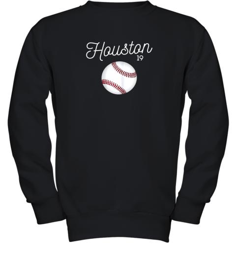Houston Baseball Shirt Astro Number 19 and Giant Ball Youth Sweatshirt